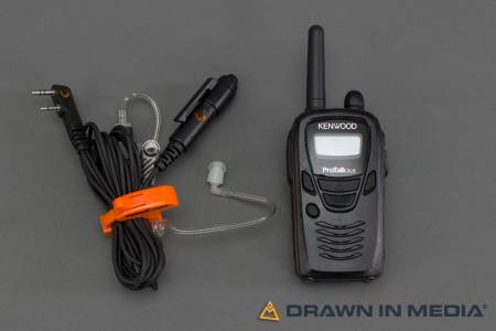 walkie talkie with in ear microphone system