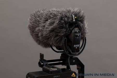 on camera microphone with deadcat windscreen