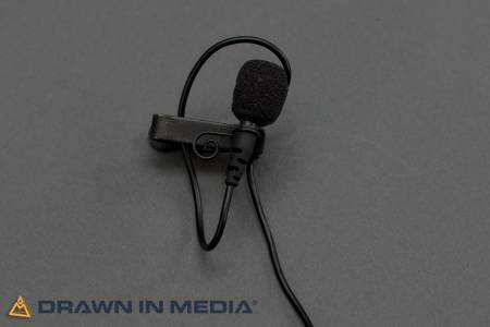 lavaliere microphone with windscreen and alligator clip