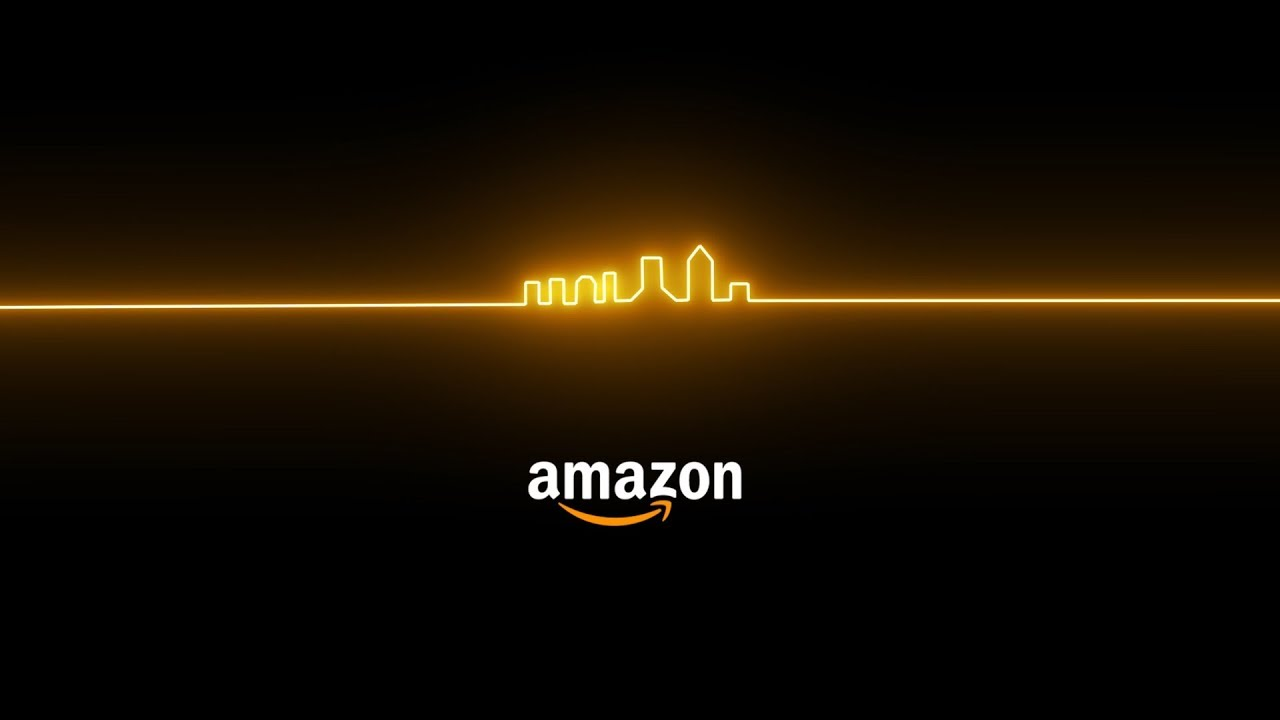 Amazon logo with Jacksonville skyline